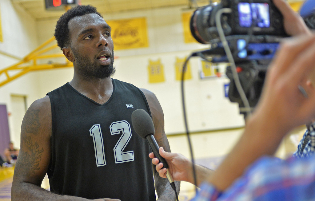 . Lakers host potential draft picks for workouts at Toyota Sports Center in El Segundo Friday June 20, 2014. P.J. Hairston / North Carolina - Texas Legends D-League.     Photo By  Robert Casillas / Daily Breeze