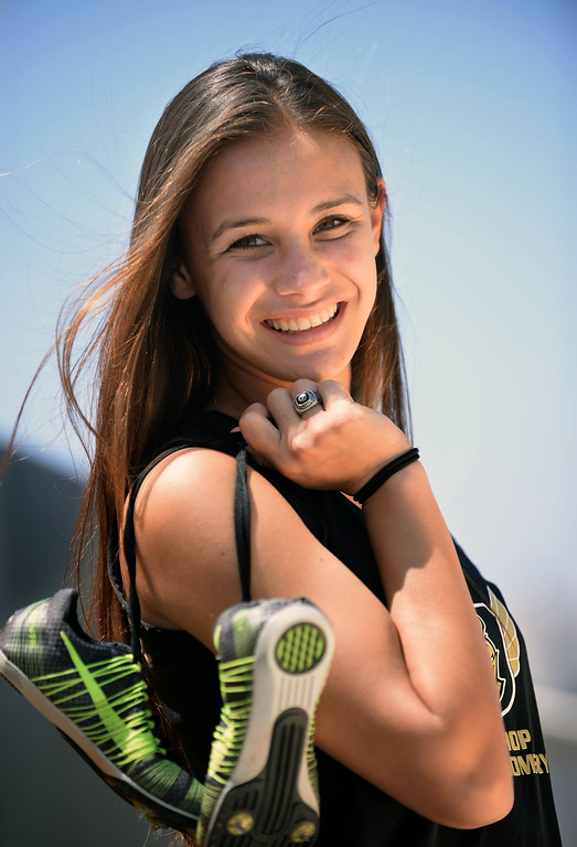 . Danielle Shanahan, Bishop Montgomery HS track and field, XCountry runner. Photo by Brad Graverson 6-13-13