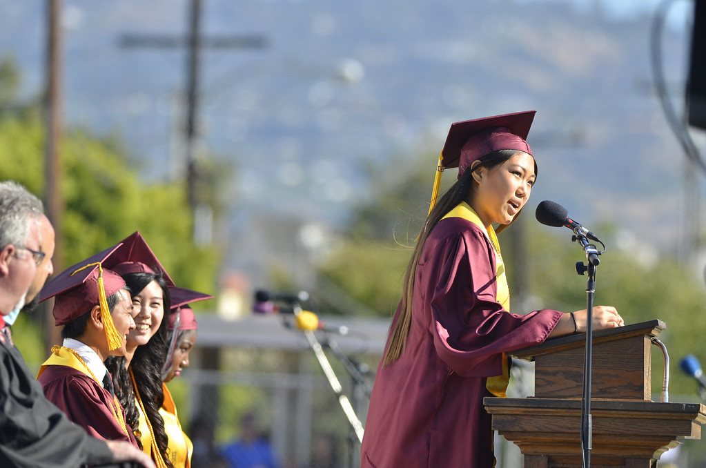 . Torrance High School Commencement Ceremony 2013 Zamperini Stadium.  Photo by Brad Graverson 6-19-13