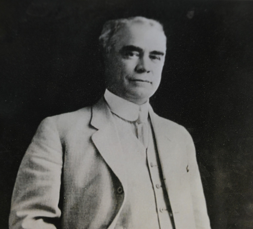 . Copy photo of Leslie C. Brand who built the mansion in 1904 and gave it to the city of Glendale after the death of his wife. Tuesday, July 23, 2013. (Michael Owen Baker/L.A. Daily News)