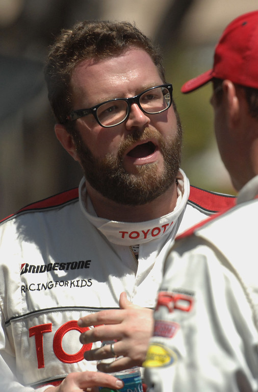 . 4/19/13 - Rutledge Wood after the Friday morning practice of the Toyota Pro/Celebrity race at the 39th Annual Toyota Grand Prix of Long Beach. Photo by Brittany Murray / Staff Photographer