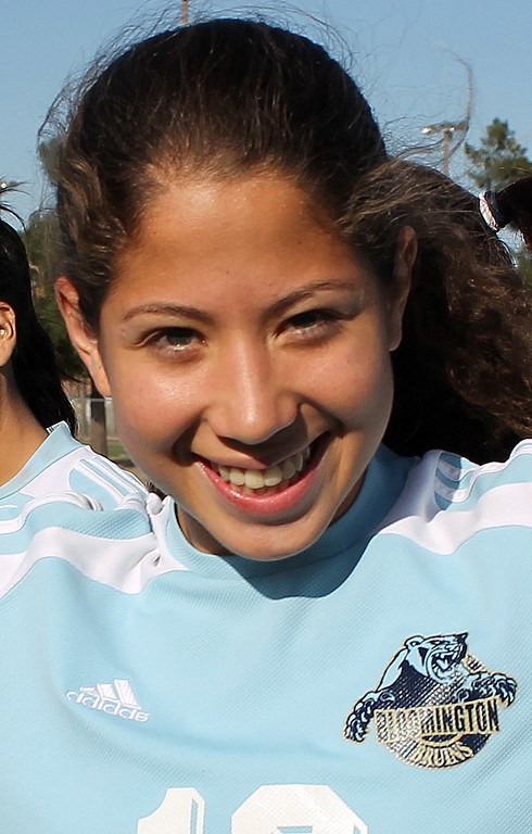 Description of . Julissa Magana of Bloomington High School has been named to The Sun's All-Valley Girl's soccer team. Courtesy photo.