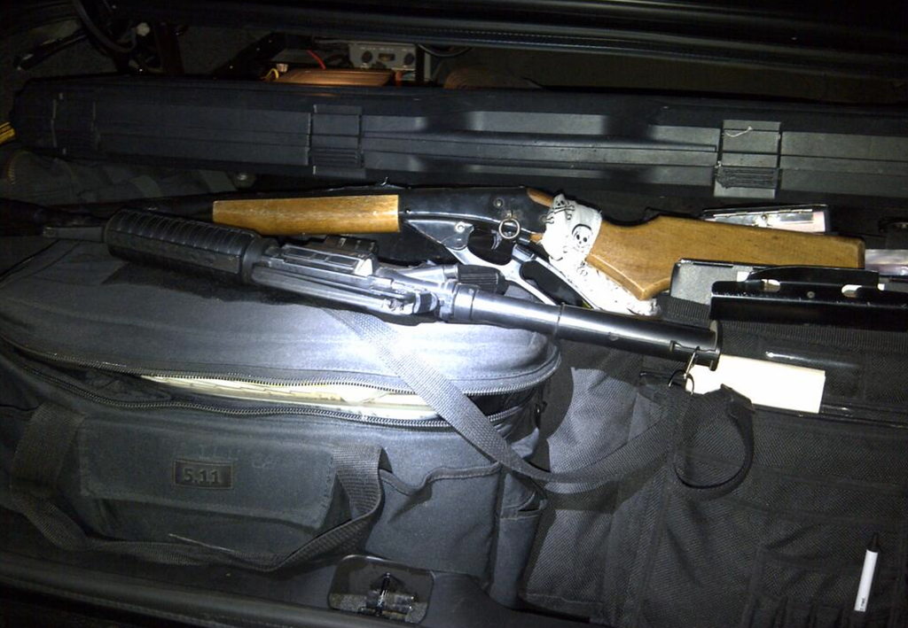 . Probation officers found two guns in the home of a convicted sex offender. Photo courtesy: Los Angeles County Probation Dept.