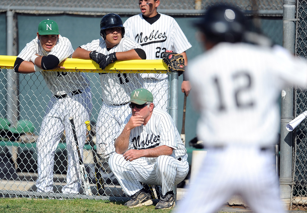 . Nogales head coach John Romano won his 600th game during a prep baseball game against Temple City at Nogales High School on Tuesday, March 12, 2013 in West Covina, Calif. Nogales won 2-0.  (Keith Birmingham Pasadena Star-News)