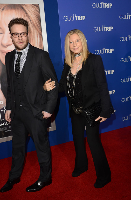 ". Actors Seth Rogen and Barbara Streisand attend the premiere of Paramount Pictures\' ""The Guilt Trip at Regency Village Theatre on December 11, 2012 in Westwood, California.  (Photo by Jason Merritt/Getty Images)"