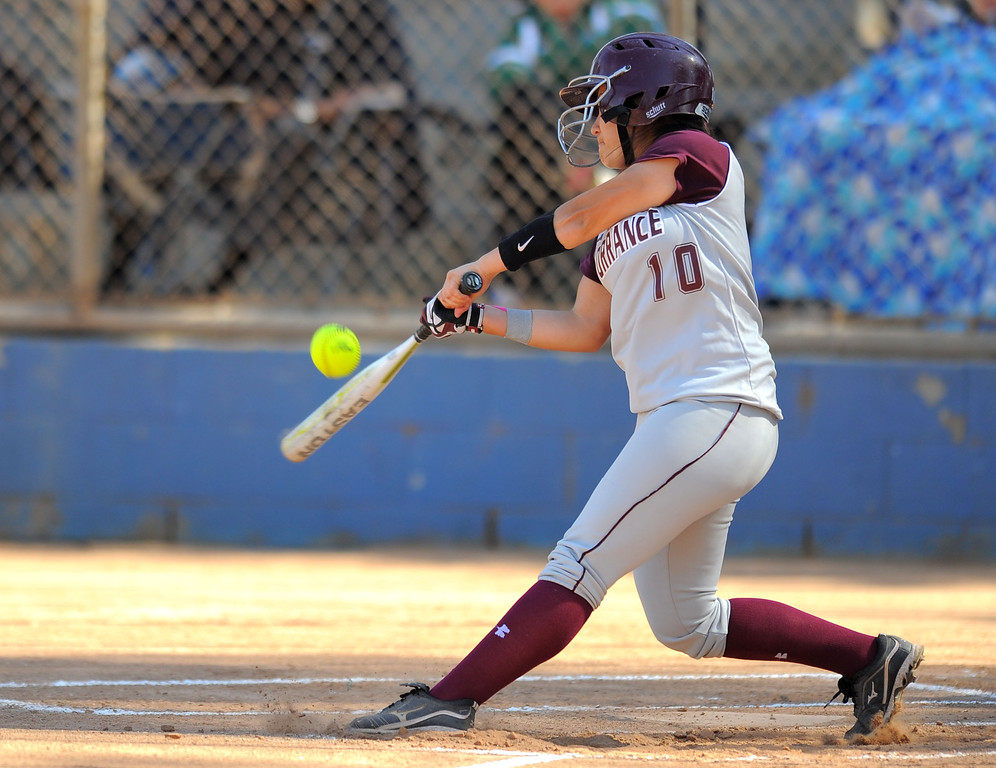 . TORRANCE - 04/03/2013  (Photo: Scott Varley, Los Angeles Newspaper Group)  South vs Torrance softball in a Pioneer League matchup. Torrance\'s Mo Ramirez.