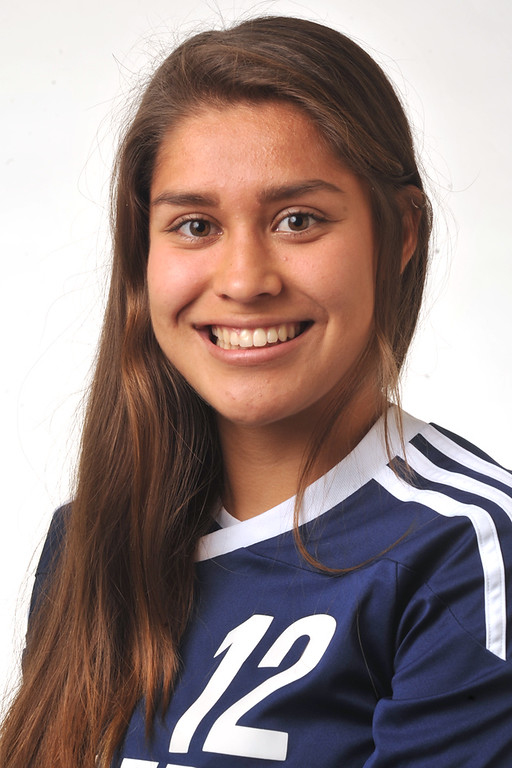 . Stephanie Mendez from Montebello High School was selected to the Whittier Daily News All-Area Girls Soccer team on Wednesday March 27, 2013. (SGVN/Staff Photo by Keith Durflinger)