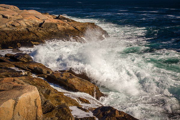 Wave Action At Peggy's Cove