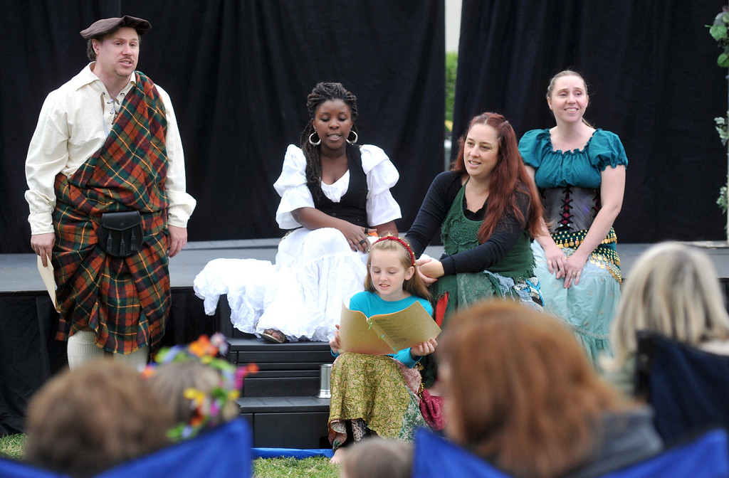 ". Whittier Christian High School hosts its first-ever Shakespeare Festival and performance of ""Much Ado About Nothing\"" at Whittier Christian High School in La Habra on Wednesday April 24, 2013. The festival included food booths, crafts, juggling, music and an open air performance on the lawn. (SGVN/Staff Photo by Keith Durflinger)"