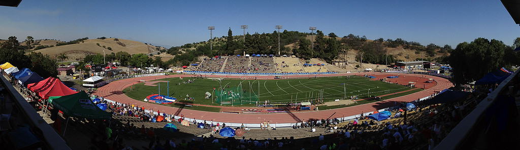 Description of . The Mt. SAC Relays in Hilmer Lodge Stadium on the campus of Mt. San Antonio College on Saturday, April 20, 2012 in Walnut, Calif.    (Keith Birmingham/Pasadena Star-News)