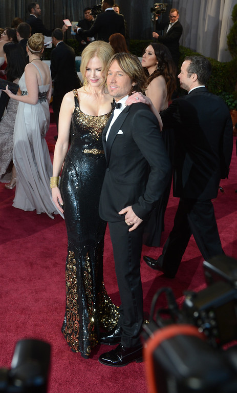 . actress Nicole Kidman and Musician Keith Urban arrives at the 85th Academy Awards at the Dolby Theatre in Los Angeles, California on Sunday Feb. 24, 2013 ( Hans Gutknecht, staff photographer)