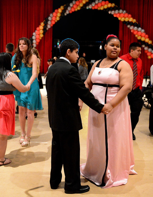Description of . Glendora High School hosts the Best Buddies Prom for high school students with special needs from across the San Gabriel Valley Friday night, April 19, 2013 at the Glendora campus. (SGVN/Staff Photo by Sarah Reingewirtz)