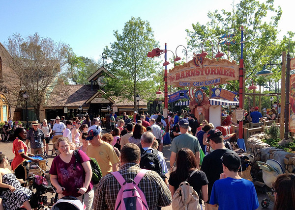 Barnstormer crowded!