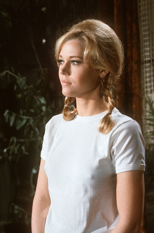 """. UNITED STATES:  Photo non dated of American actress Jane Fonda. \""""Tall Story\"""" in 1960 directed by Joshua Logan marked the beginning of a highly successful and respected acting career highlighted by two Academy Awards for her performance in \""""Klute\"""" (1971) by Alan Pakula and in \""""Coming Home\"""" (1978) by Hal Ashby.    (FILM) AFP PHOTO   Portrait non datT de l\'actrice amTricaine Jane Fonda, dont la carriFre dTbute en 1960 dans le film \""""Tall Story\"""" du rTalisateur Joshua Logan . Elle retut deux oscars pour sa performance dans les films \""""Klute\"""" en 1971 de Alan Pakula et \""""Coming Home \"""" en 1978 de Hal Ashby . Un des r(les marquant da sa carriTre fut \""""Barbarella\"""" en 1968 du rTalisateur frantais Roger Vadim. (AFP/AFP/Getty Images)"""