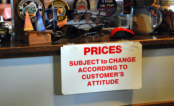 Big Ed's pricing policy!