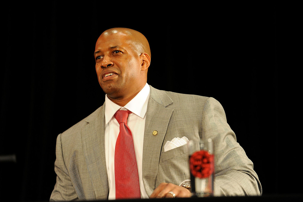 . Brandon Martin, a former basketball player and senior associate athletic director at USC was named CSUN\'s new athletic director Monday, February 25, 2013. ( Hans Gutknecht/Staff Photographer)