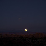 Moon rise over the La Sals