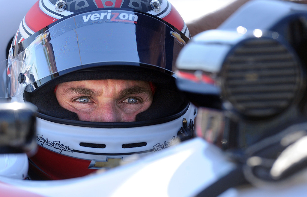 . (Will Lester/Staff Photographer)  Indycar driver Will Power waits to leave the pits during the morning practice session Friday morning April 19, 2013 at the 39th annual Toyota Grand Prix of Long Beach.