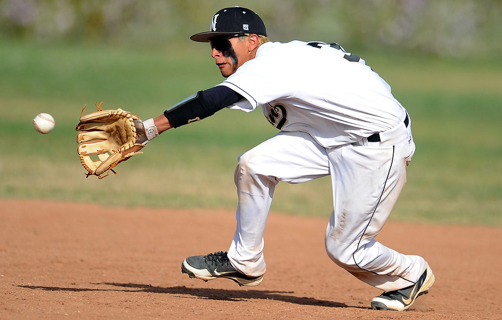 Description of . Northview's Anthony Amaya in the sixth inning of a prep baseball game against Baldwin Park at Northview High School on Tuesday, April 23, 2012 in Covina, Calif. Northview won 8-2.    (Keith Birmingham/Pasadena Star-News)