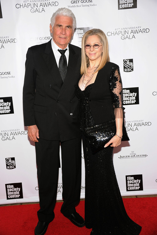 . James Brolin (L) and Barbra Streisand attend the 40th Anniversary Chaplin Award Gala at Avery Fisher Hall at Lincoln Center for the Performing Arts on April 22, 2013 in New York City.  (Photo by Jamie McCarthy/Getty Images)