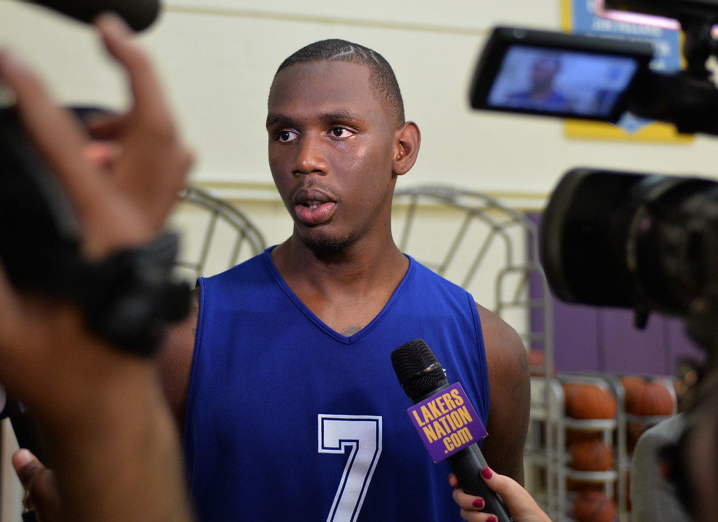 . Lakers pre-draft workout at Toyota Sports Center Wednesday June 4, 2014. Jerry Evans, Nevada.      Photo By  Robert Casillas / Daily Breeze