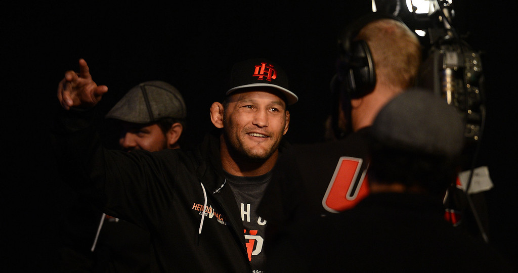 . UFC fighter Dan Henderson during weigh-ins for UFC 157 Rousey vs Carmouche at the Honda Center in Anaheim Friday, February  22, 2013.  (Hans Gutknecht/Staff Photographer)