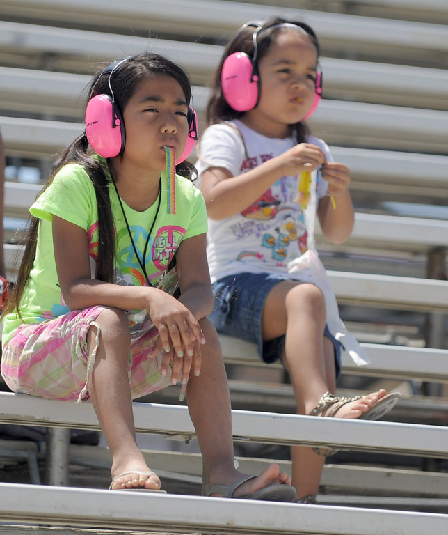 . 04-20-2013-(LANG Staff Photo by Sean Hiller)- Fans at the Toyota Grand Prix of Long Beach Saturday.