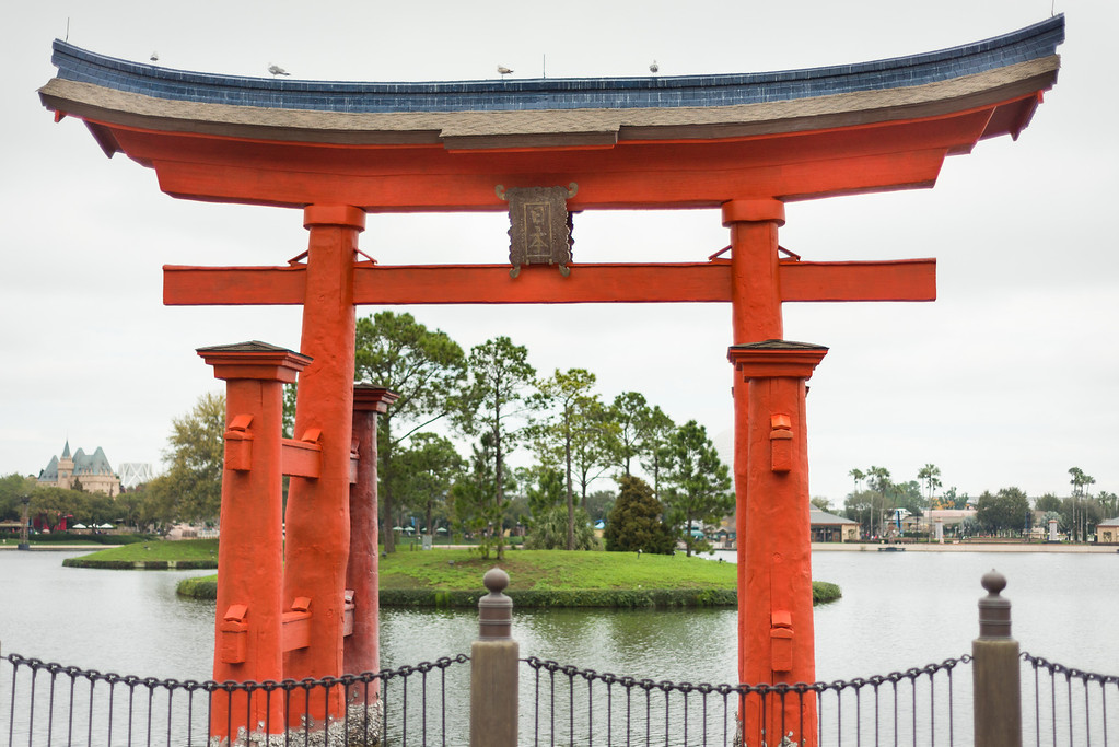 Japanese Torii in Epcot