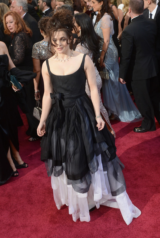 . Actress Helena Bonham Carter arrives at the 85th Academy Awards at the Dolby Theatre in Los Angeles, California on Sunday Feb. 24, 2013 ( Hans Gutknecht, staff photographer)