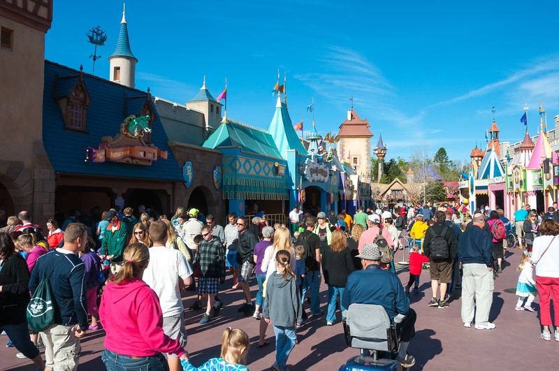 Fantasyland Magic Kingdom Disney World - Spring Break 2013 Crowds