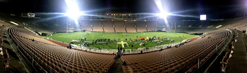 . The the 2013 Collegiate Field Tournament at the Rose Bowl on Friday, April 5, 2013 in Pasadena, Calif.  (Keith Birmingham Pasadena Star-News)