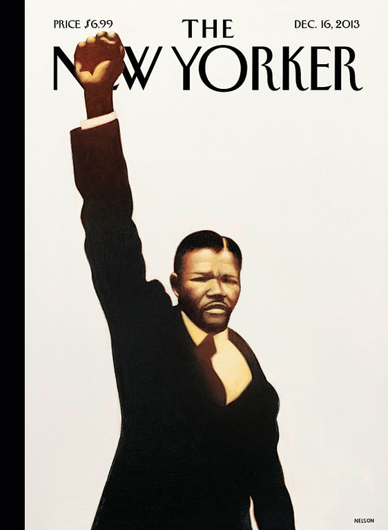 . In this photo provided the New Yorker, a painting by Madiba, showing Nelson Mandela that will appear on the cover of the December 16, 2013 New Yorker is shown. Nelson Mandela died on Thursday, Dec. 5, 2013 at age 95. (AP Photo, The New Yorker, Madiba)