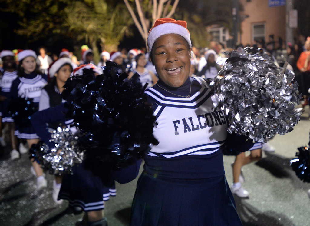 . The 60th annual Daisy Avenue Parade in the Wrigley neighborhood Saturday, December 13, 2013, in Long Beach, CA.  Lindenbergh Middle School. Photo by Steve McCrank/DailyBreeze