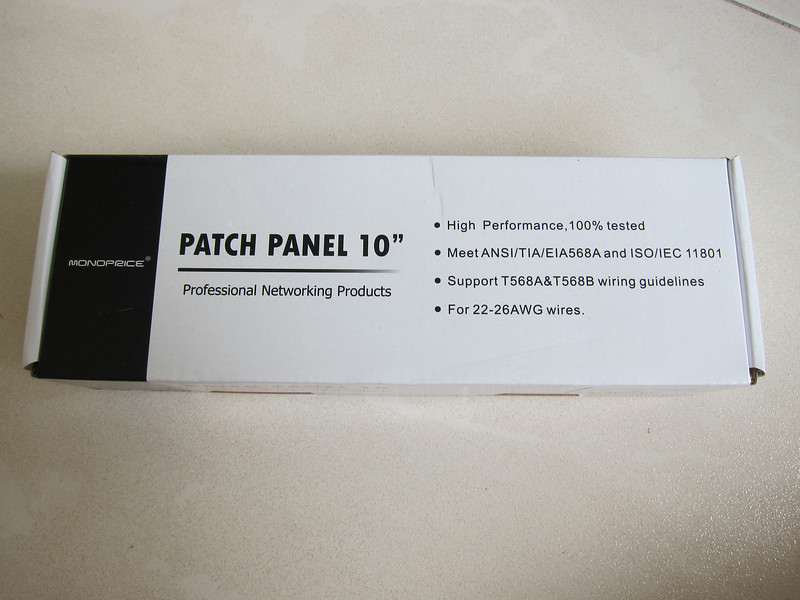 Monoprice Cat6 Patch Panel 110 Type 12 Ports