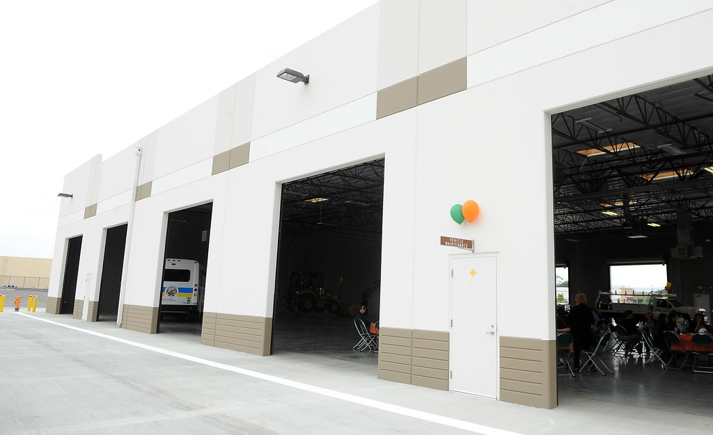 . Maintenance bays during the grand opening of the state-of-the-art Public Works and Transportation Yard at the El Monte Public Works & Transportation Yard on Thursday, April 25, 2012 in El Monte, Calif.    (Keith Birmingham/Pasadena Star-News)