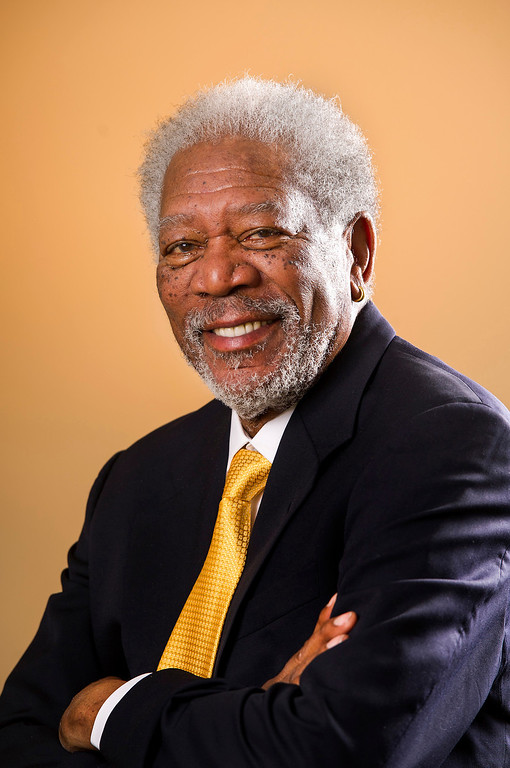 ". Actor Morgan Freeman is in the upcoming movie ""Olympus Has Fallen.\"" Photographed at the Four Season Hotel in Los Angeles Monday, March 18, 2013. (Michael Owen Baker/Staff Photographer)"