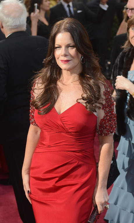 . Marcia Gay Harden arrives at the 85th Academy Awards at the Dolby Theatre in Los Angeles, California on Sunday Feb. 24, 2013 ( Hans Gutknecht, staff photographer)