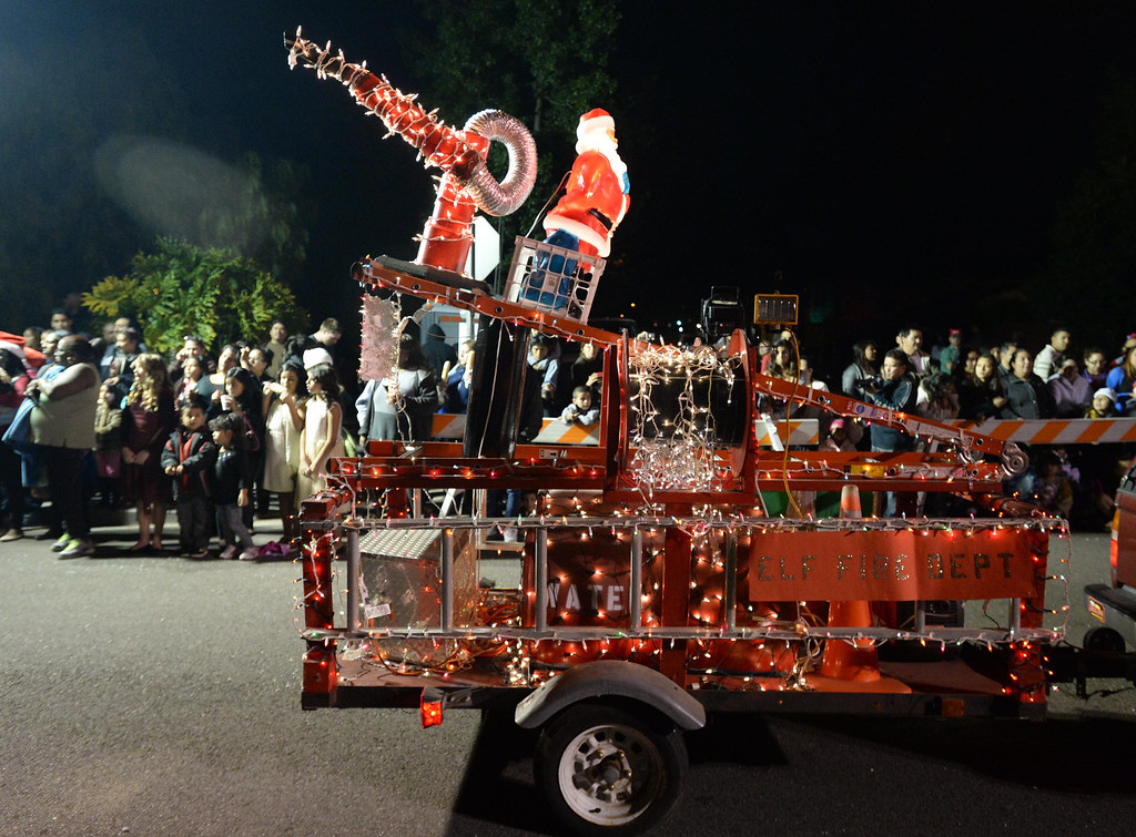 . The 60th annual Daisy Avenue Parade in the Wrigley neighborhood Saturday, December 13, 2013, in Long Beach, CA.  Story Family Float. Photo by Steve McCrank/DailyBreeze