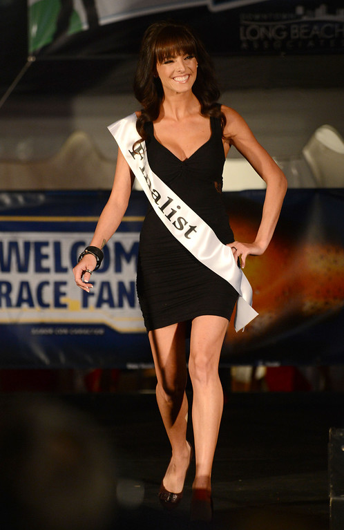 . Long Beach, Calif., -- 04-18-13-  Finalist Lee Anne Powell During the 2013 Tecate Light Miss Toyota Grand Prix of Long Beach Thursday night on Pine Avenue at the Tecate Light Thunder Thursday on Pine.   Stephen Carr/  Los Angeles Newspaper Group