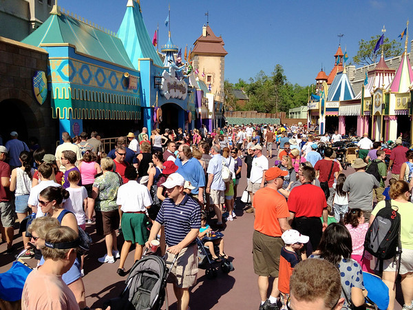 Fantasyland crowds