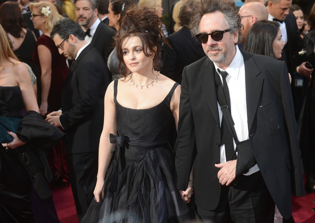 . Actress Helena Bonham Carter, left, and filmmaker Tim Burton arrives at the 85th Academy Awards at the Dolby Theatre in Los Angeles, California on Sunday Feb. 24, 2013 ( Hans Gutknecht, staff photographer)
