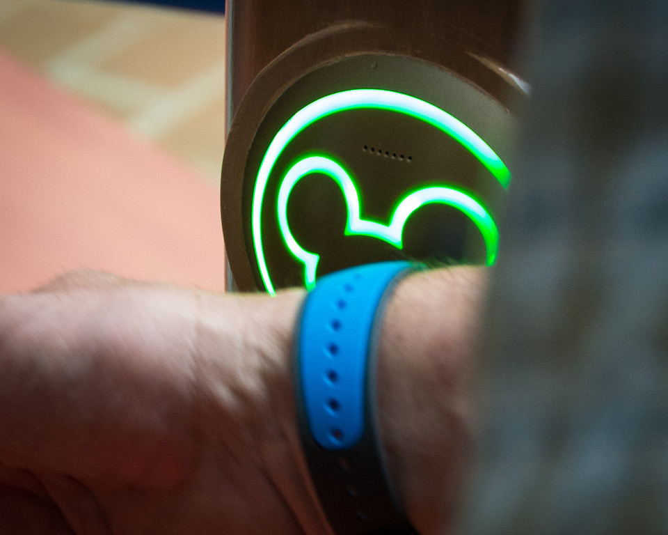 Magic Bands at Disney World Attraction Entrance