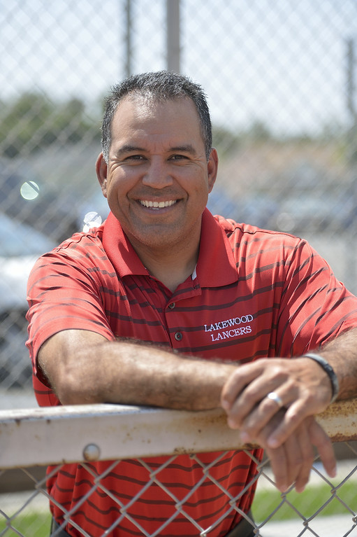 . LAKEWOOD, CALIF. USA -- Press-Telegram All-Area softball Coach of the Year, Lakewood\'s Andy Miramontes on Friday, June 7, 2013, in Lakewood, Calif. Photo by Jeff Gritchen / Los Angeles Newspaper Group