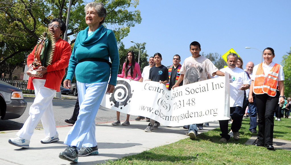 . during the El Centro de Accion Social Annual Cesar Chavez Commemoration and Peace Walk at the Villa-Parke Community Center on Saturday, March 30, 2013 in Pasadena, Calif.  (Keith Birmingham Pasadena Star-News)