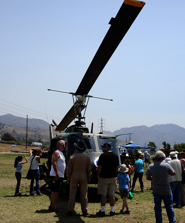 . People were able to get up close to check out all the different kinds of helicopters during the 20th anniversary of American Heroes Air Show Courage at the Speed of Flight at Hansen Dam. Lake View Terrace CA.  June 29,2013. Photo by Gene Blevins/LA Daily News