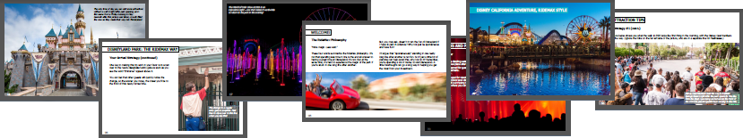 RideMax Book of Tips for Disneyland - Preview Pages