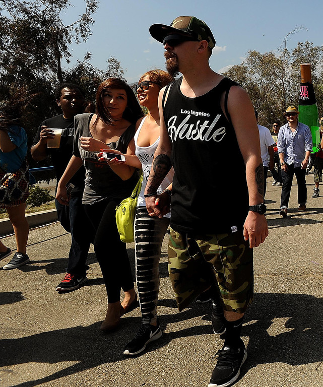 Description of . Crowds flock to the Paid Dues Independent Hip Hop Festival at San Manuel Amphitheater in Devore March 30, 2013.  GABRIEL LUIS ACOSTA/STAFF PHOTOGRAPHER.