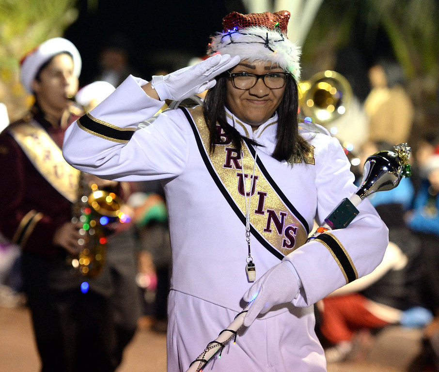 . The 60th annual Daisy Avenue Parade in the Wrigley neighborhood Saturday, December 13, 2013, in Long Beach, CA.  Wilson High. Photo by Steve McCrank/DailyBreeze