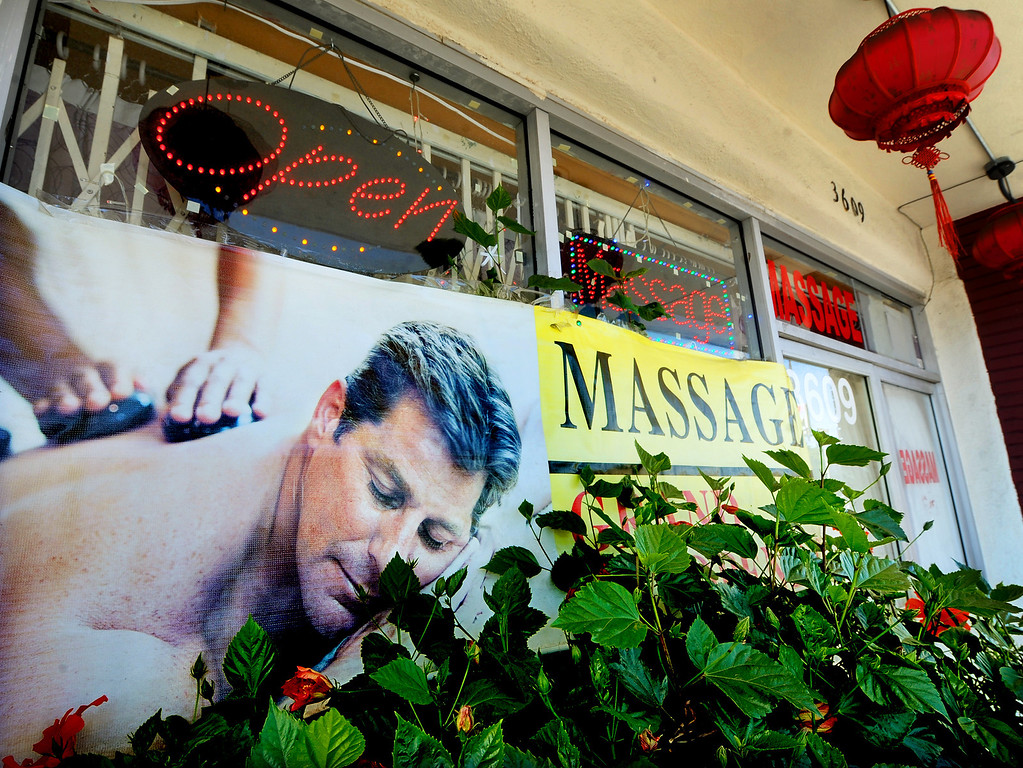 Description of . Holiday Massage located at 3609 East Colorado Boulevard in Pasadena. (Photo by Walt Mancini/Pasadena Star-News)