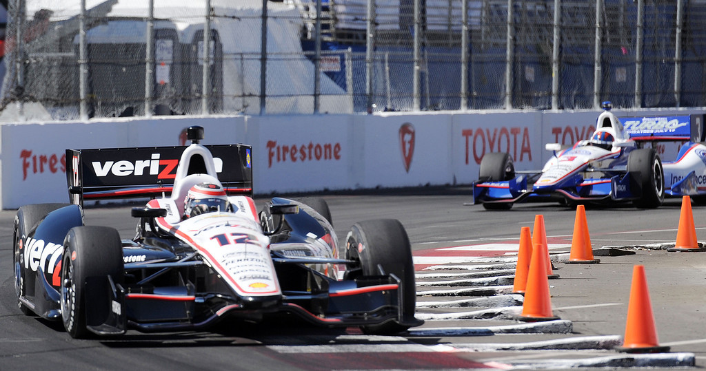 . (Will Lester/Staff Photographer)  Indycar driver Will Power drives through turn 10 during the Friday afternoon practice session April 19, 2013 at the 39th annual Toyota Grand Prix of Long Beach.
